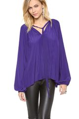 Ramy Brook V Neck Caftan Blouse - Lyst