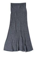 Stefanel Ribbed Long Skirt - Lyst