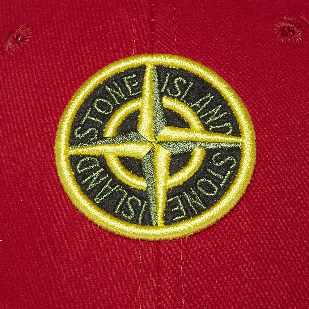 lyst stone island logo cap in red for men. Black Bedroom Furniture Sets. Home Design Ideas