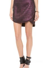Tibi Quilted Skirt - Lyst