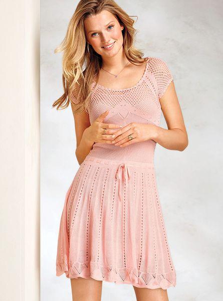 Victoria 39 S Secret Pointelle Dress In Pink Euphoria Pink