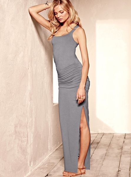 Gray Maxi Dress Photo Album - Reikian