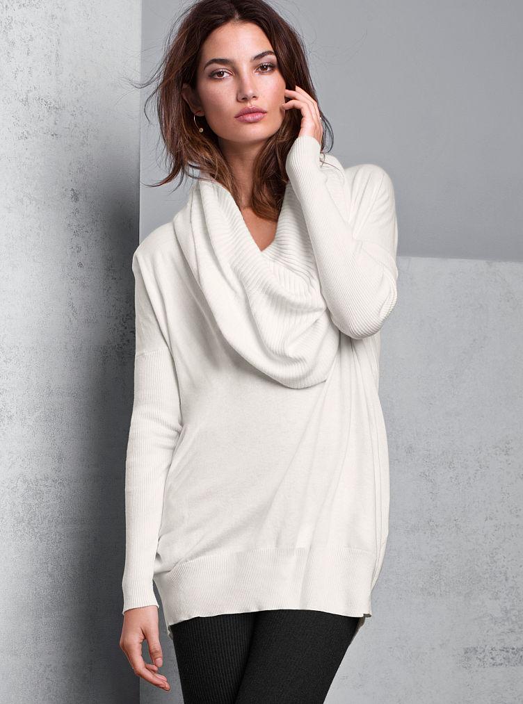 Victoria's Secret Multiway Tunic Sweater in Beige (ivory ...
