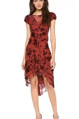 Zac Posen Silk Short Sleeve Dress - Lyst