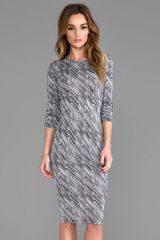 10 Crosby by Derek Lam Zig Zag Print Long Sleeve Dress in Black - Lyst