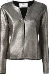 Allude Metallic Coated Cardigan - Lyst