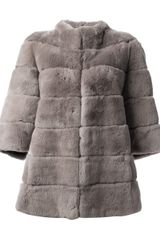 Blancha Rabbit Fur Jacket - Lyst