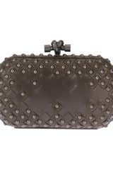 Bottega Veneta Studded Box Clutch - Lyst