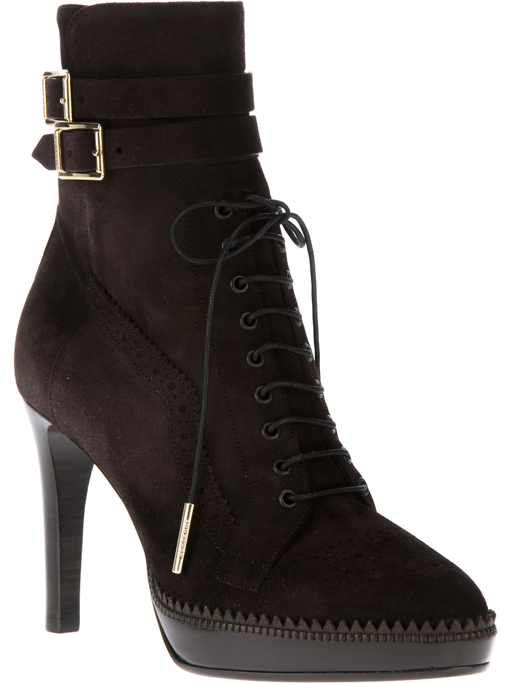 burberry lace up boot in brown lyst