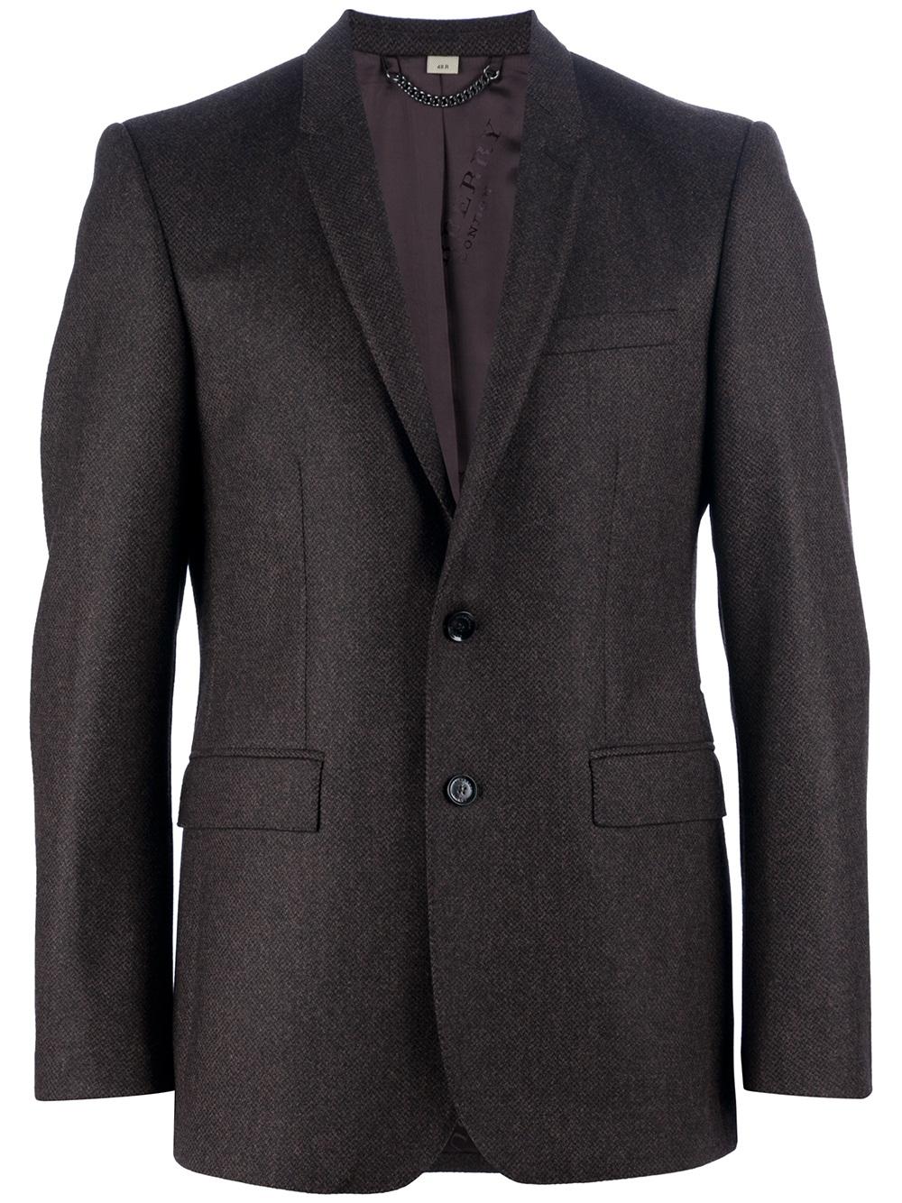 Lyst Burberry Tweed Jacket In Brown For Men