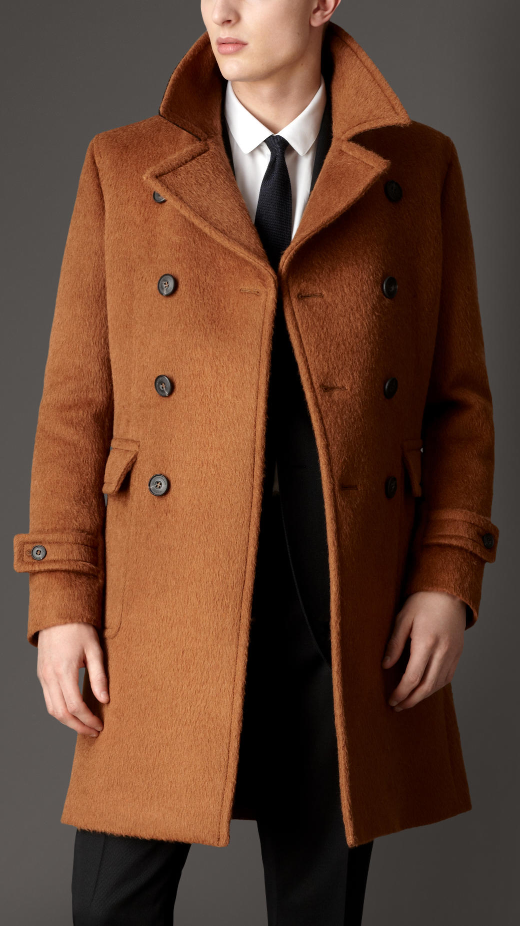 2019 professional purchase genuine half price Doublebreasted Virgin Wool Alpaca Coat