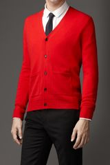 Burberry Military Stitch Cashmere Cardigan - Lyst