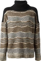 By Malene Birger Check Knit Jumper - Lyst