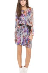Charlie Jade Long Sleeve Printed Dress - Lyst