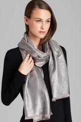 DKNY Feather Print Scarf - Lyst
