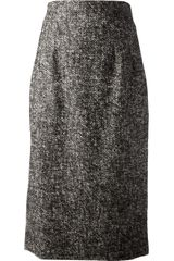 Dolce & Gabbana Midi-pencil Skirt - Lyst