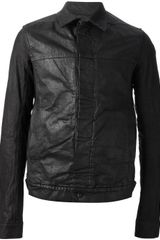 DRKSHDW by Rick Owens Wax Coated Jacket - Lyst