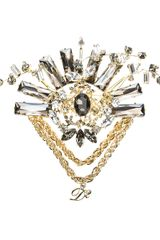 DSquared2 Crystal Brooch - Lyst