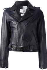 Each X Other Leather Biker Jacket - Lyst