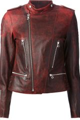 Each X Other Embossed Leather Biker Jacket - Lyst