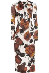 Emilia Wickstead Darcy Printed Silkorganza Dress - Lyst