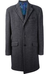 Etro Single Breasted Coat - Lyst