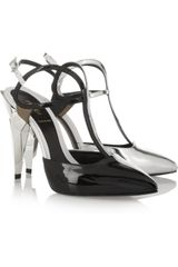 Fendi Tritone Metallic Leather Pumps - Lyst