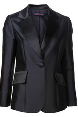 Harvey Faircloth Notch Lapel Blazer - Lyst