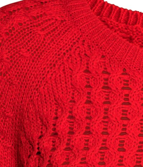 H&m Knitted Jumper in Red