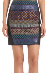 Icb Jacquard Sleeveless Sheath Dress - Lyst