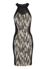 Jane Norman Cut Out Jaquard Dress - Lyst