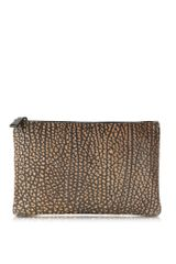 Jil Sander Large Fine Envelope Leather Clutch - Lyst