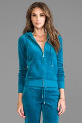 Juicy Couture J Bling Hoodie in Blue - Lyst