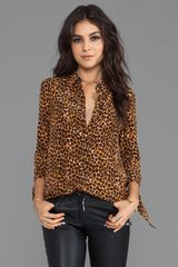 Juicy Couture Leopard Ellie Blouse in Brown - Lyst