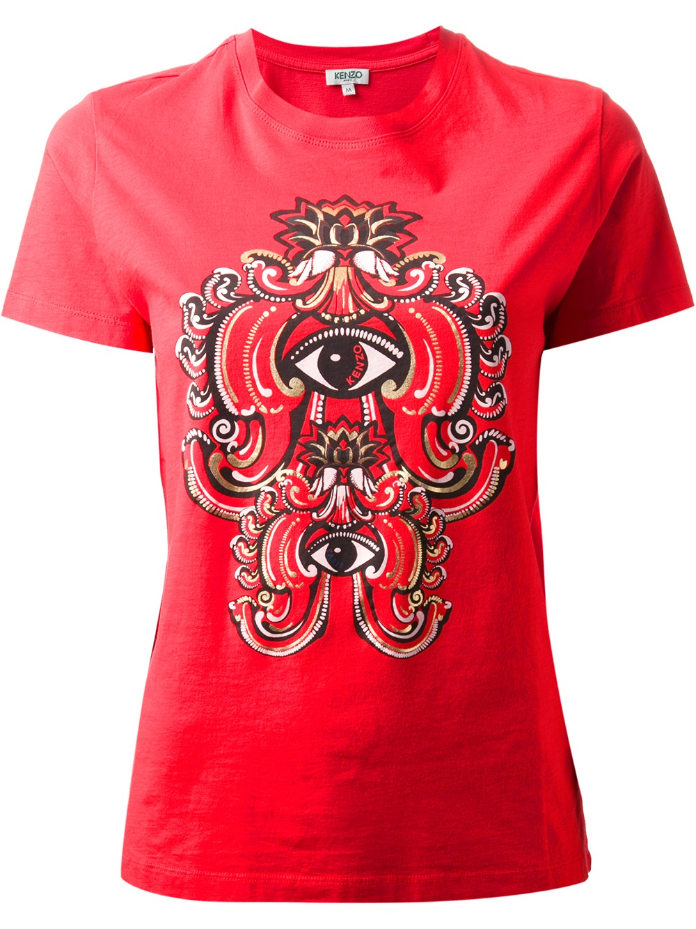 lyst kenzo eye logo tshirt in red. Black Bedroom Furniture Sets. Home Design Ideas