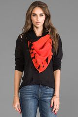 McQ by Alexander McQueen Angry Eagle Scarf in Orange - Lyst