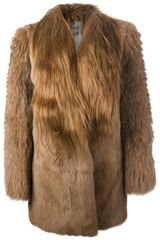 Meteo By Yves Salomon Rabbit Fur Coat - Lyst