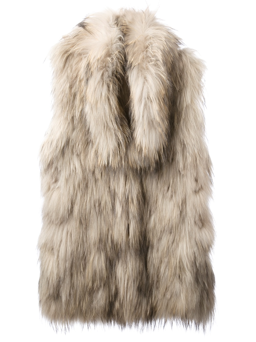 Lyst Meteo By Yves Salomon Rabbit Fur Gilet In Natural
