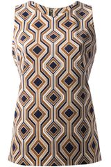 Michael by Michael Kors Printed Blouse - Lyst