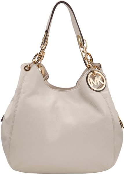 Michael Michael Kors Large Fulton Hobo Bag in White (Vanilla