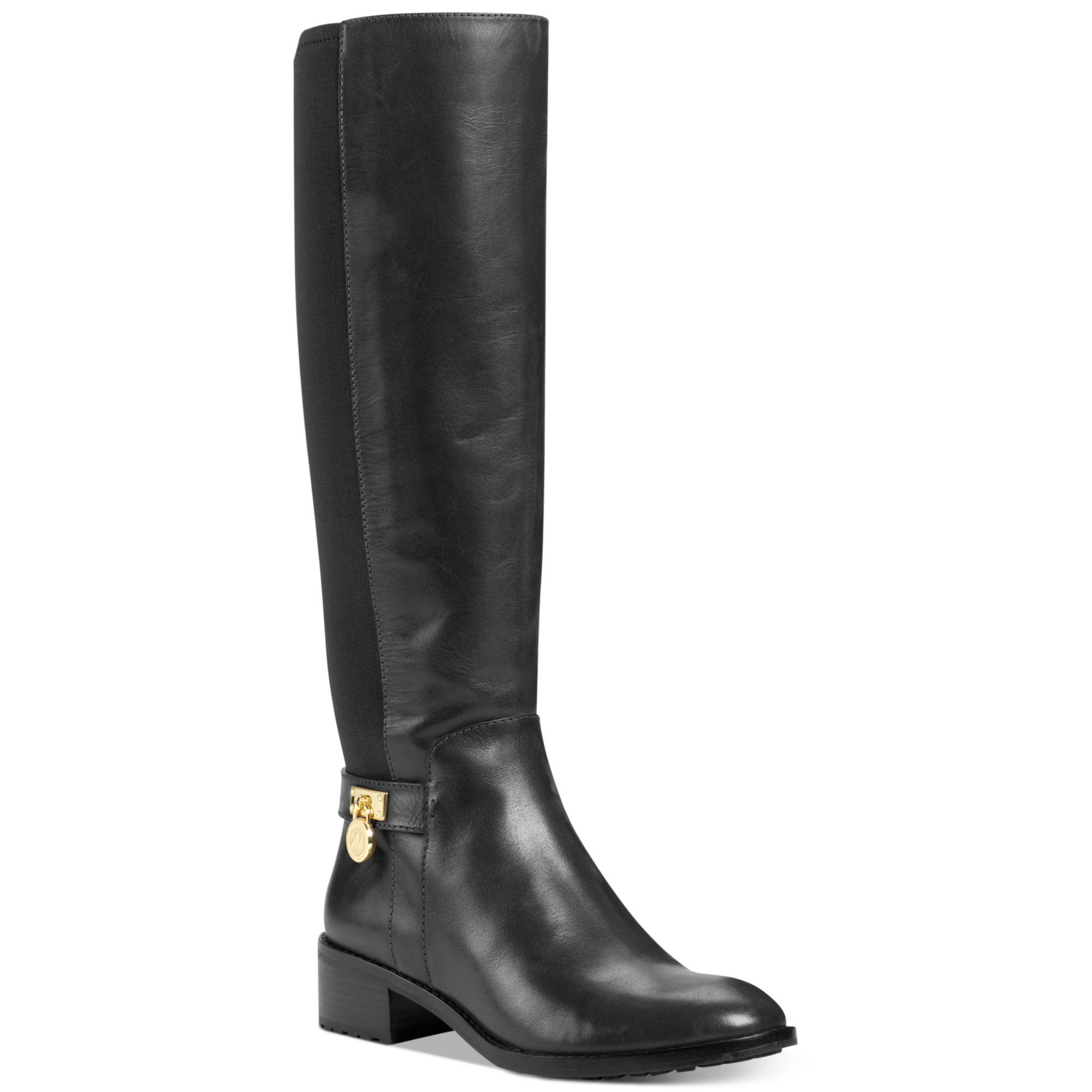 michael kors hamilton stretch boots in black lyst