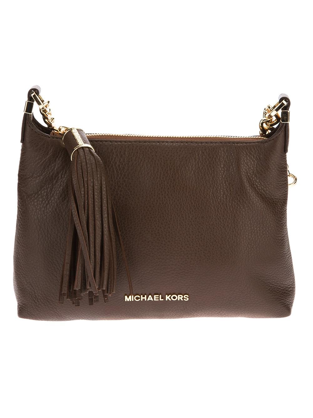 Lyst Michael Kors Weston Small Messenger Bag In Brown