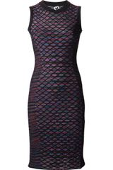 Missoni Diamond Grid Knit Dress - Lyst