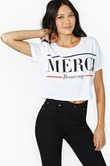 Nasty Gal Lovers Friends Merci Crop Top - Lyst