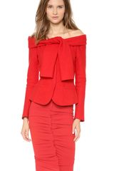 Nina Ricci Tie Shoulder Wool Jacket - Lyst