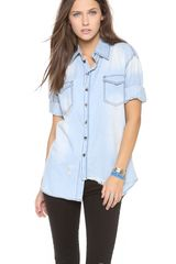 One Teaspoon Denim Shirt - Lyst