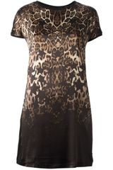 Philipp Plein Leopard Print Tshirt Dress - Lyst