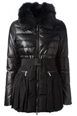 Pinko Fur Trim Jacket - Lyst