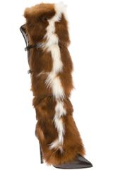 Roberto Cavalli Fox Fur Trimmed Boot - Lyst