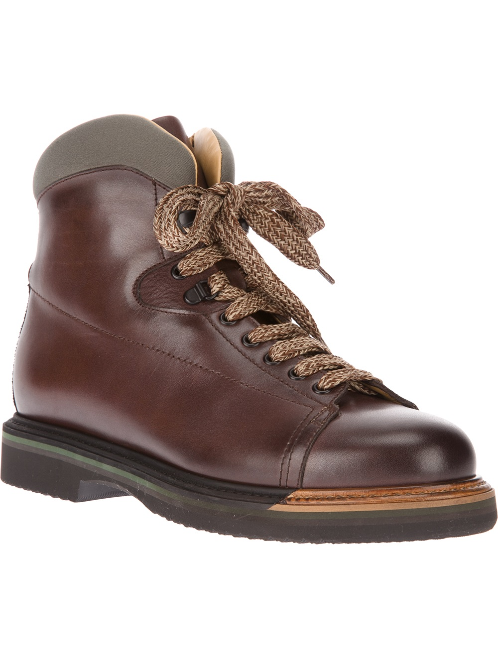 santoni hiking boot in brown for men lyst